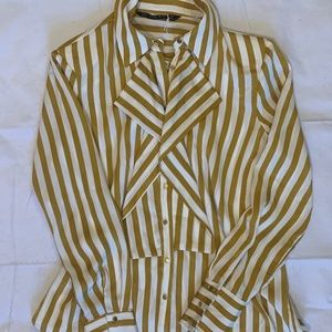 Zara Striped Blouse - Women's Medium
